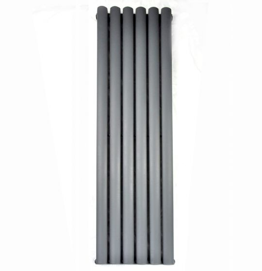 Anthracite Double Oval Tube Vertical Radiator 1600x360mm