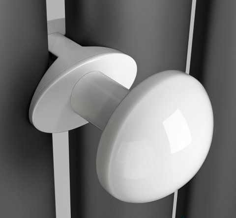 Towel / Robe Hooks for use with Oval Tube Radiators - White Fini