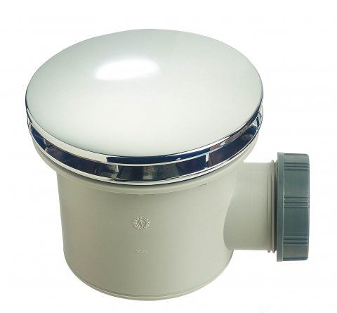 Wirquin 90mm Shower Tray Waste With ABS Chrome Dome