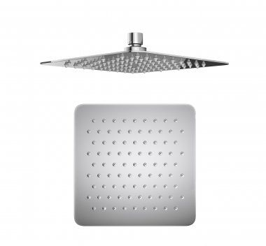 200x200mm Square Stainless Steel Shower Head - Premium Range