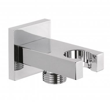 Square Wall Connector and Hand Held Shower Head Bracket