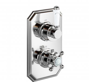 Thermostatic Shower Valve-Traditional Round 2 Way Mixer