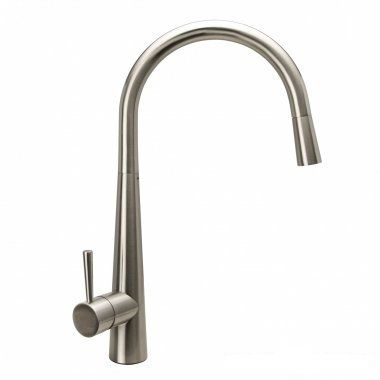 Della Brushed Steel Kitchen Mixer Tap - Pull Out Spray