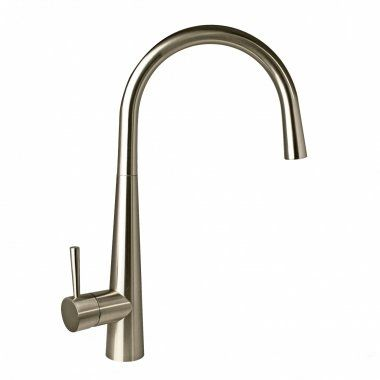 Narva Brushed Steel Kitchen Mixer Tap - Swivel Spout