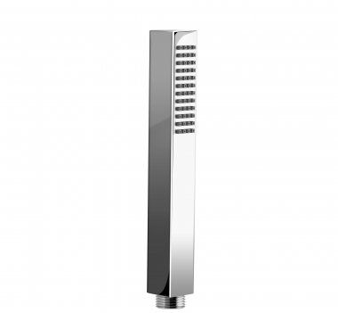 Square Chrome Effect Hand Held Shower Head