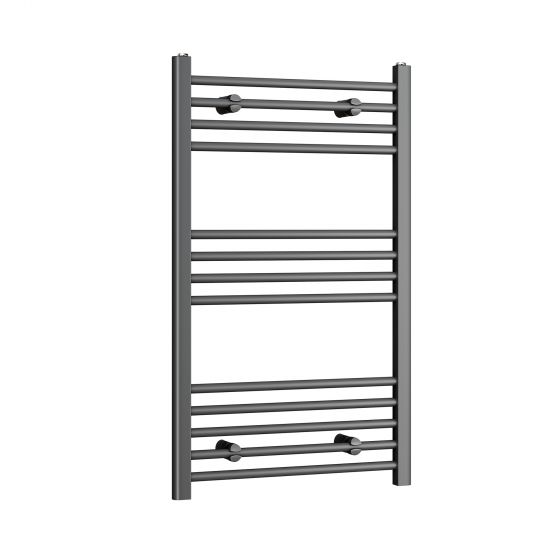 1000x600mm - 20mm Tubes - Anthracite Heated Straight Rail Ladder
