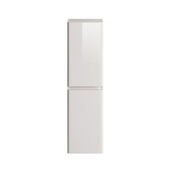 1400mm Denver II Gloss Cashmere Tall Storage Cabinet - Wall Hung