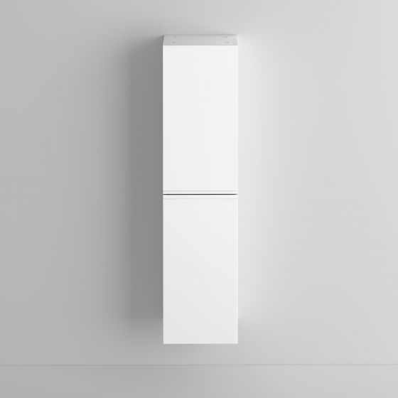 1400mm Trent Gloss White Tall Storage Cabinet - Wall Hung