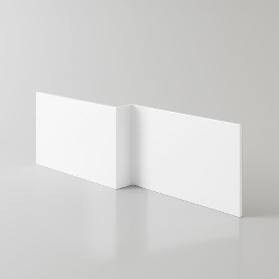 1500x520mm L-Shape Bath Front Panel - White