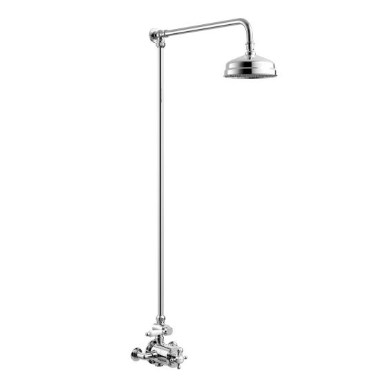 150mm Head Traditional Thermostatic Exposed Shower Kit