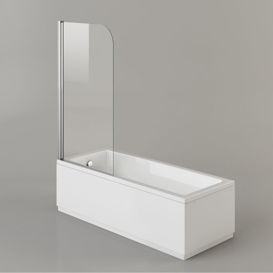 1600mm Straight Bath & Screen - Square Design (Excludes Panels)
