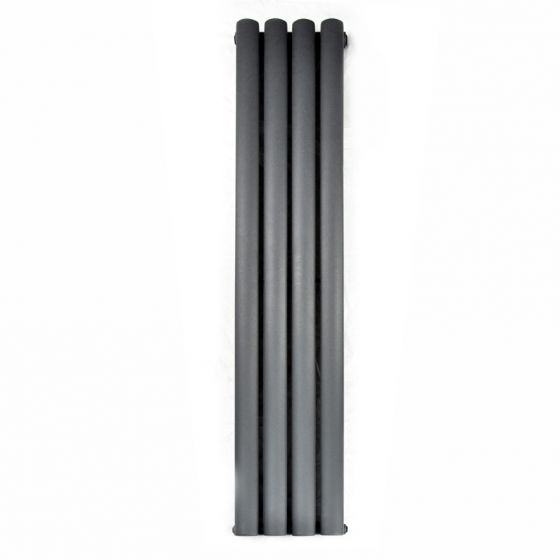 Anthracite Single Oval Tube Vertical Radiator 1600x240mm