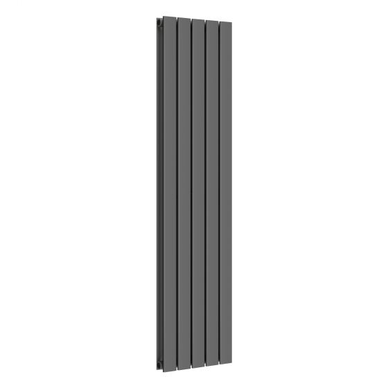 Anthracite Double Flat Panel Vertical Radiator 1600x376mm