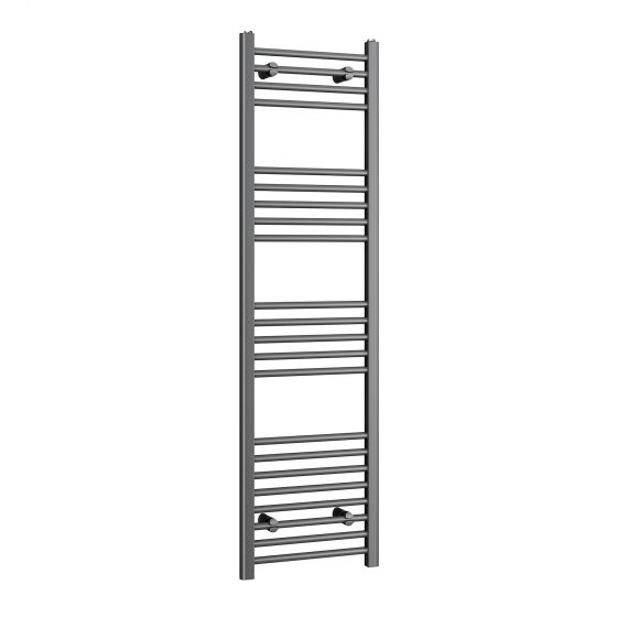 1600x450mm - 20mm Tubes - Anthracite Heated Straight Rail Ladder