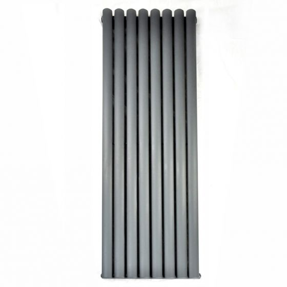 Anthracite Double Oval Tube Vertical Radiator 1600x480mm