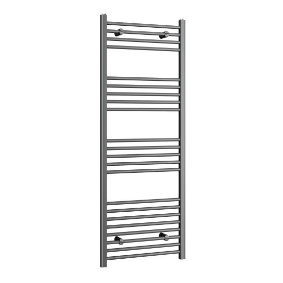 1600x600mm - 20mm Tubes - Anthracite Heated Straight Rail Ladder