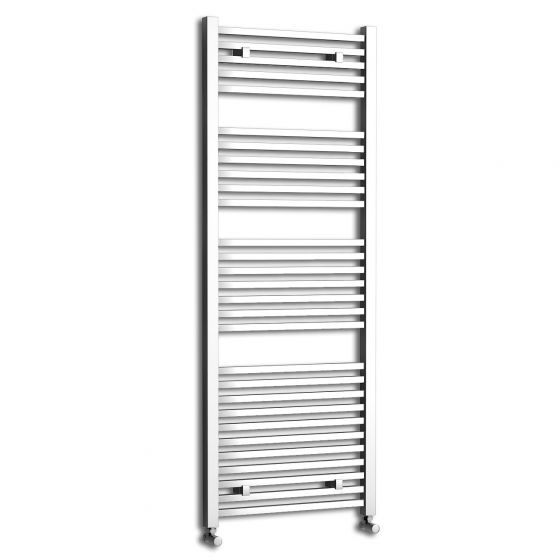 Chrome Square Rail Ladder Towel Radiator - 1600x600mm
