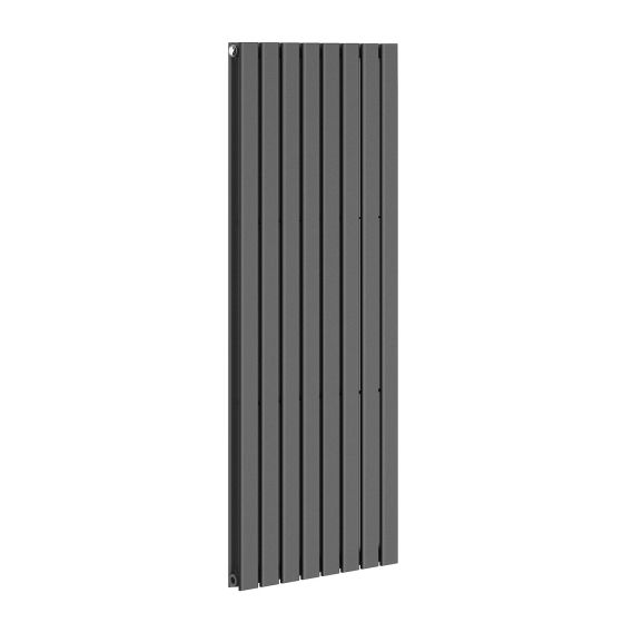 Anthracite Double Flat Panel Vertical Radiator 1600x608mm