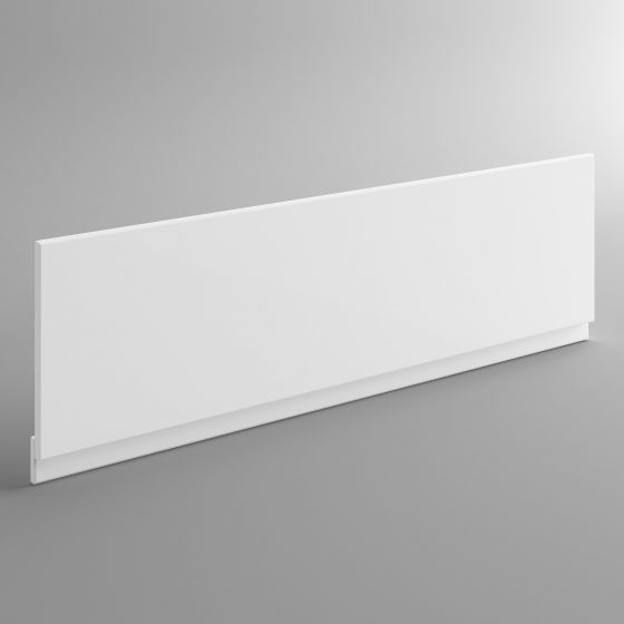 1700mm Wood Bath Front Panel - Gloss White