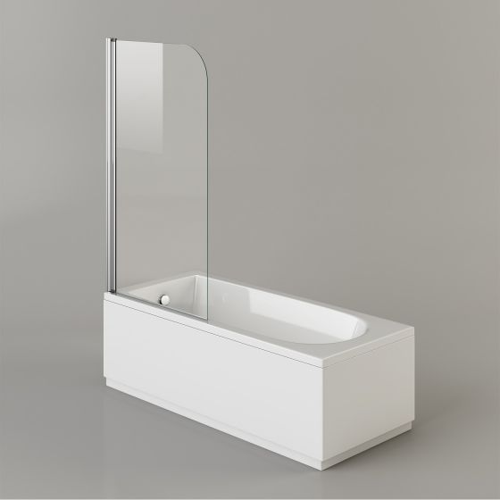 1800mm Straight Bath & Screen - Round Design (Excludes Panels)