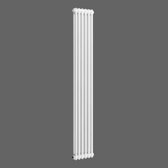White Double Panel Vertical Colosseum Radiator 1800x290mm