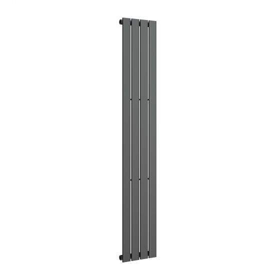 Anthracite Single Flat Panel Vertical Radiator 1800x300mm