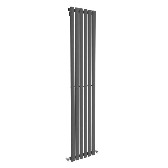 Anthracite Single Oval Tube Vertical Radiator 1800x360mm