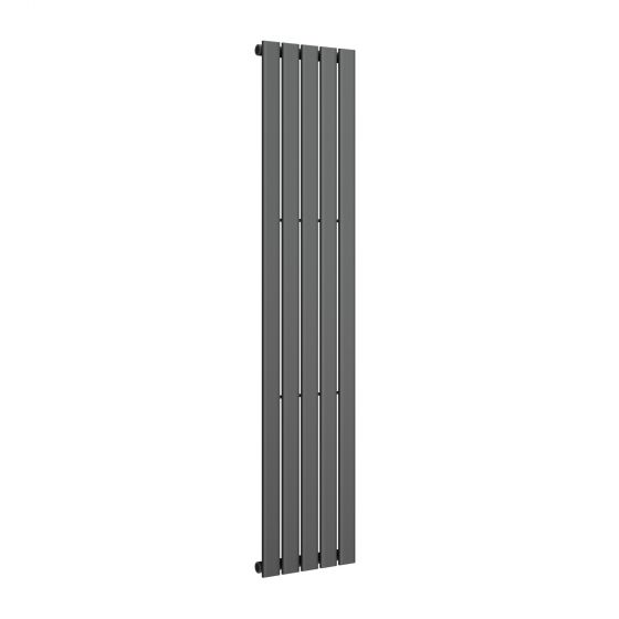 Anthracite Single Flat Panel Vertical Radiator 1800x376mm