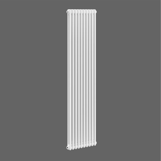 White Double Panel Vertical Colosseum Radiator 1800x465mm