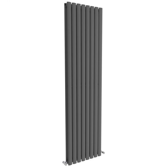 Anthracite Double Oval Tube Vertical Radiator 1800x480mm