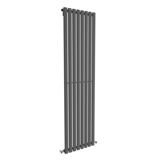 Anthracite Single Oval Tube Vertical Radiator 1800x480mm