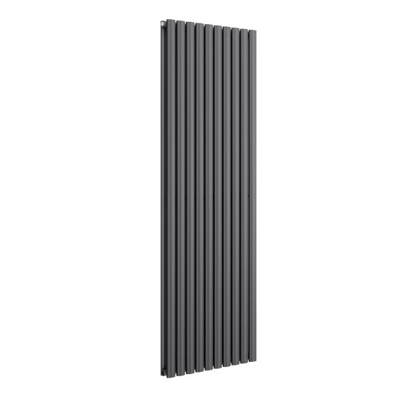Anthracite Double Panel Oval Tube Vertical Radiator 1800x600m