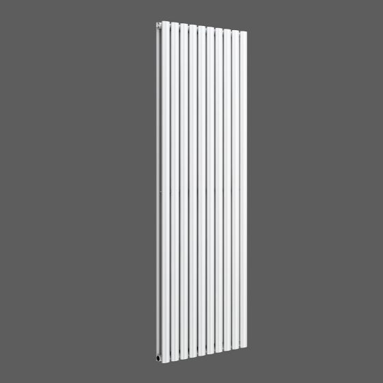 White Double Panel Oval Tube Vertical Radiator 1800x600mm