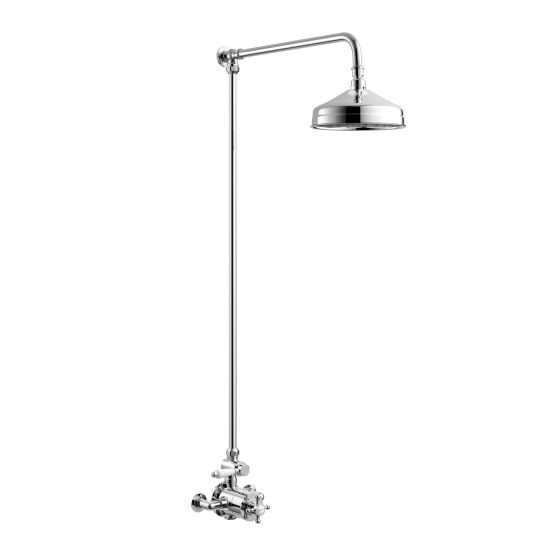 200mm Head Traditional Thermostatic Exposed Shower Kit