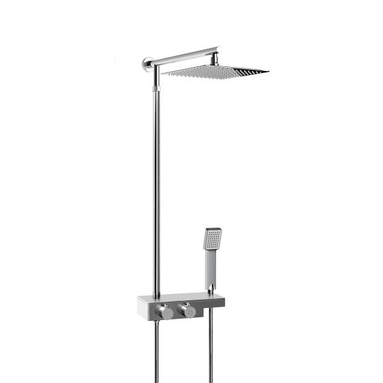 250mm Thermostatic Square Mixer Shower & Handheld