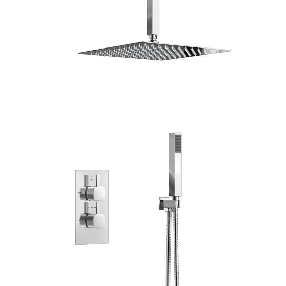 300mm Square Thermostatic Concealed Shower Ceiling Mounted Head