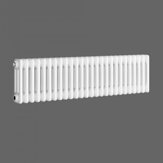 300x1188mm White Triple Panel Horizontal Colosseum Radiator