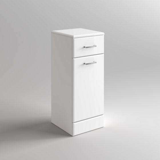 300x300mm Quartz Gloss White Laundry Basket Unit
