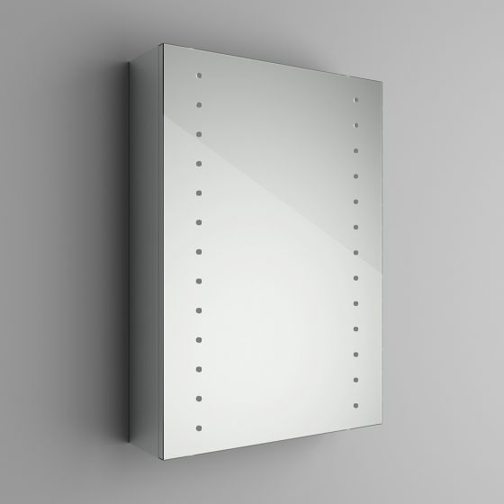 498x700mm Galactic Illuminated LED Mirror Cabinet & Shaver Socke