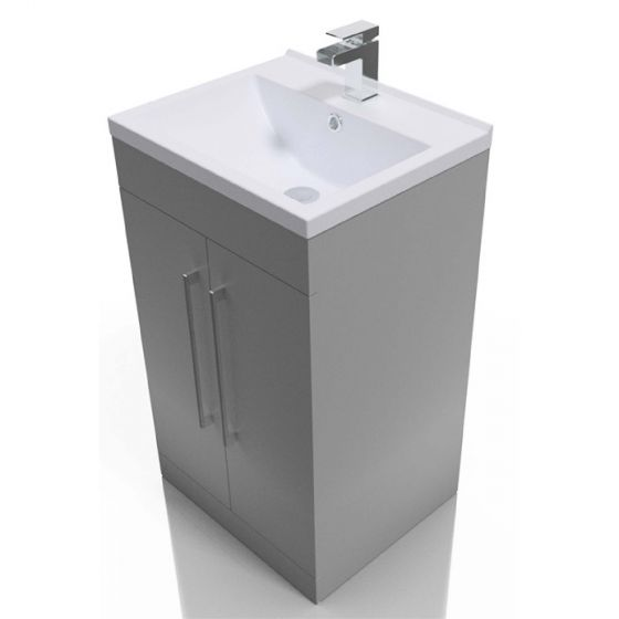 Icon Gloss White 500mm  Built in Basin Drawer Unit