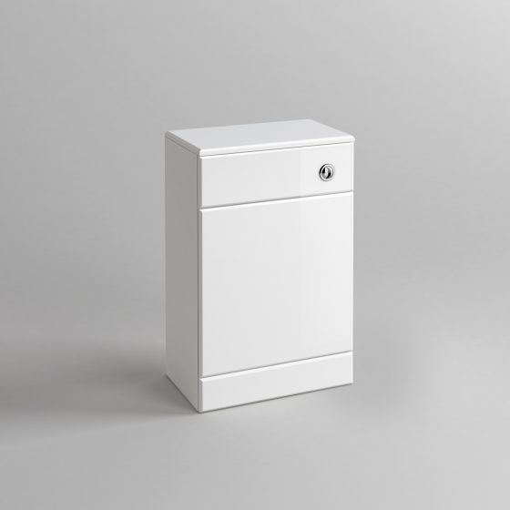 500x200mm Quartz Gloss White Back To Wall Toilet Unit