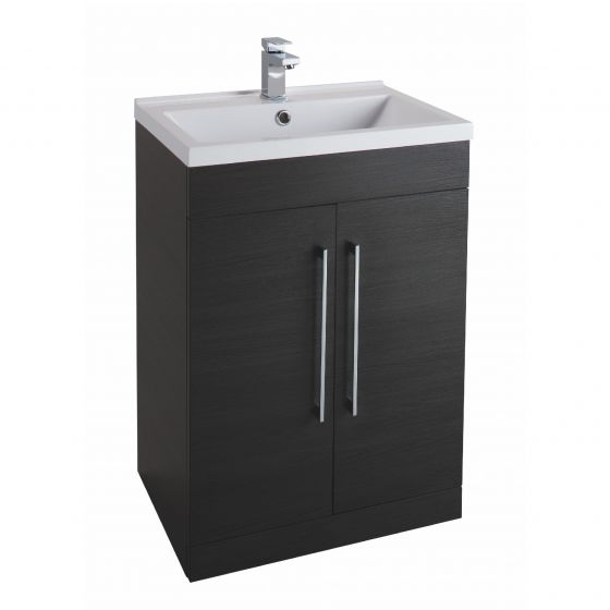 Icon Black 600mm  Built in Basin Drawer Unit
