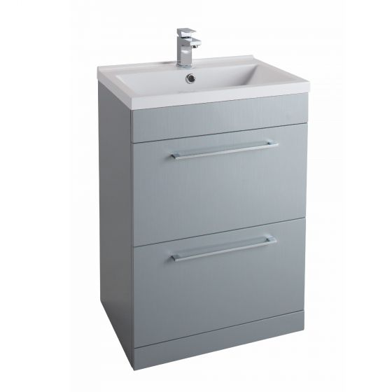 Icon Gloss White 800mm Free Standing Drawer and basin Unit