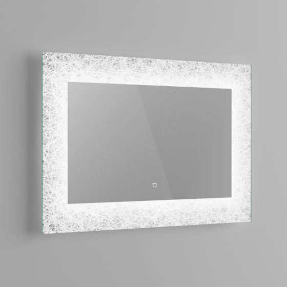 600x900mm Galactic Designer Illuminated LED Mirror - Switch