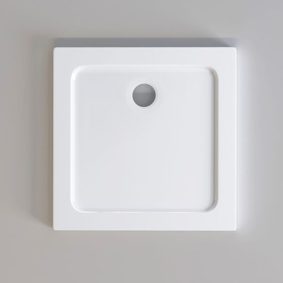 760x760mm Square Easy Plumb Stone Shower Tray