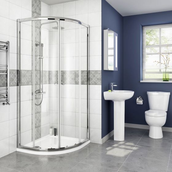 800x800mm Crosby Quadrant Shower Enclosure Suite