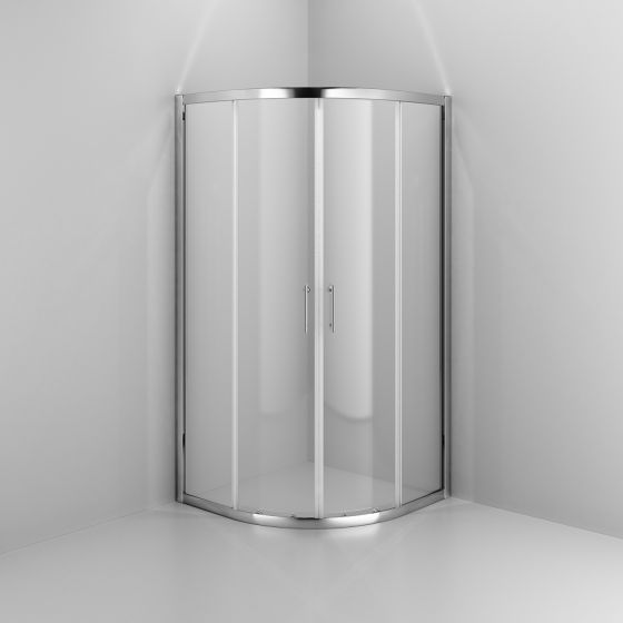 900x900mm - 6mm - Elements Quadrant Shower Enclosure