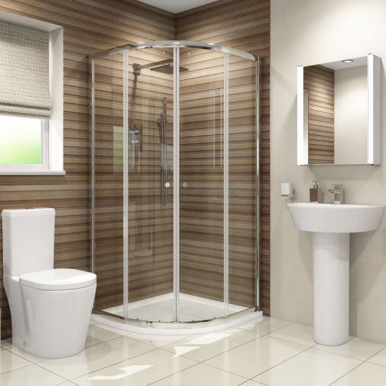 900x900mm Albi Quadrant Shower Enclosure Suite