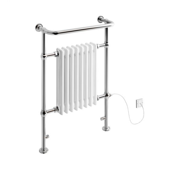 Large Electric Traditional Wall Mounted Rail Radiator 952x659mm