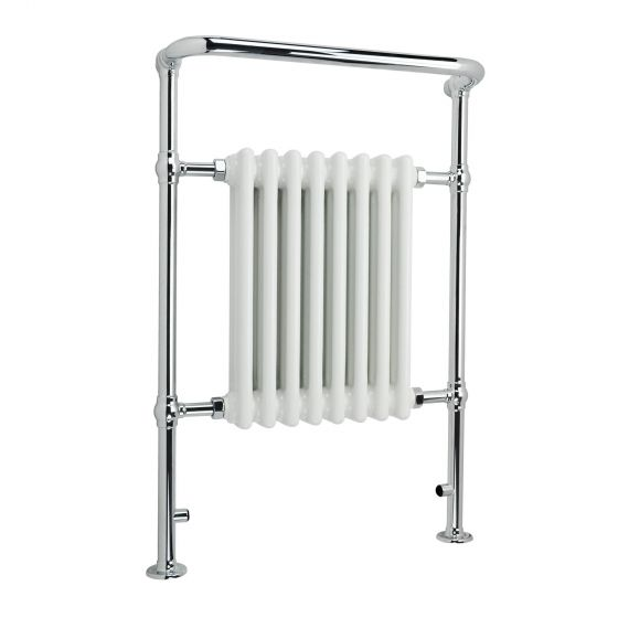 Large Traditional White Towel Rail Radiator - 952x659mm
